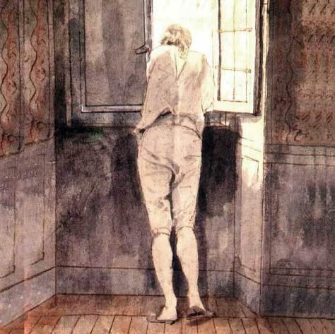 Goethe am Fenster in Rom, von J. H. W. Tischbein (1787)