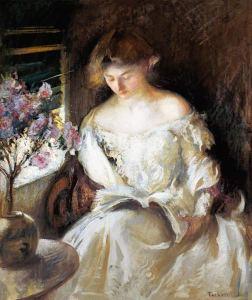Edmund Charles Tarbell, Lesende junge Frau (1902)