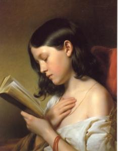 Franz Eybl, Lesendes Mädchen (1850)