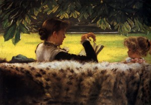 James Tissot, Reading a Story (1878)