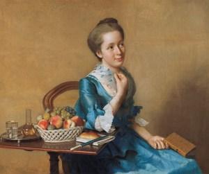Jean-Étienne Liotard (1702-1789), Dame mit Früchtestilleben