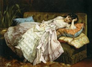 Auguste Toulmouche, Dolce far niente (1870)