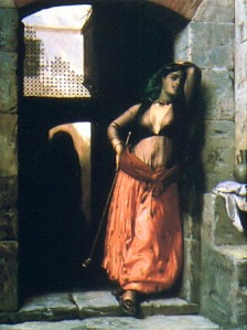 Almeh mit Pfeife, Jean Leon Gerome, 1873