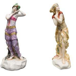 Skulpturen Sobeida und Feuervogel