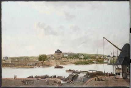 Dorothea Cuntz-Hofmann Frankfurter Mainufer auf Schaumaintor, um 1815.php