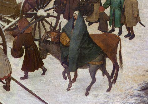"Pieter Bruegel der Ältere ""Volkszählung in Bethlehem"" (Ausschnitt) (1566)"