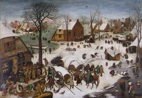 """Pieter Bruegel der Ältere """"Volkszählung in Bethlehem"""" (1566)"""