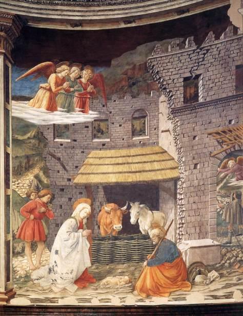Filippo Lippi, Geburt Christi mit der Anbetung der Hirten im Chor des Doms von Spoleto