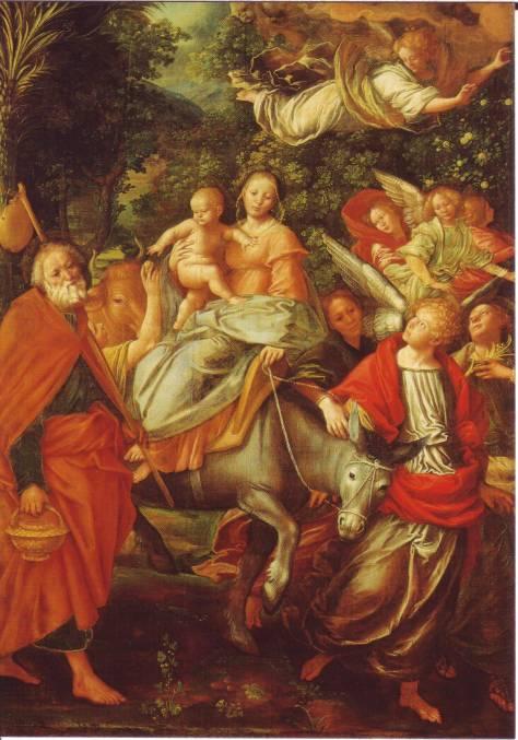 Gaudenzio Ferrari, Flucht nach Ägypten, Dom von Como (ca. 1523-26)