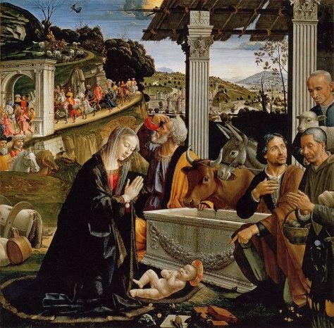 Domenico Ghirlandaio, Anbetung der Hirten (1482-85), Florenz