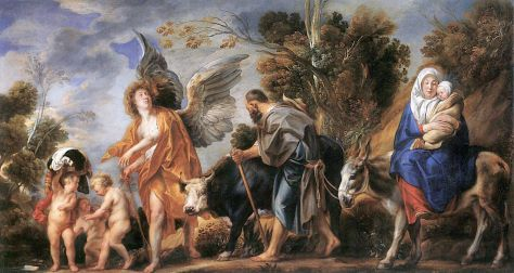 Jacob Jordaens, Flucht nach Ägypten, 1640