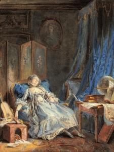 Pierre Antoine Boudouin, La Lecture (1760)