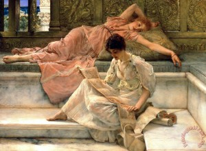lawrence-alma-tadema_the_favourite_poet_1909